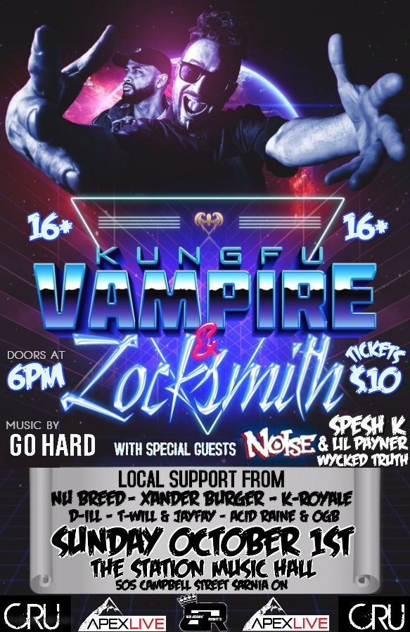 Kung Fu Vampire X Locksmith + MORE LIVE at The Station Music Hall