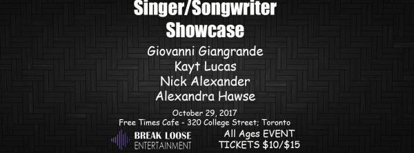 Singer/Songwriter Showcase: 3rd Edition