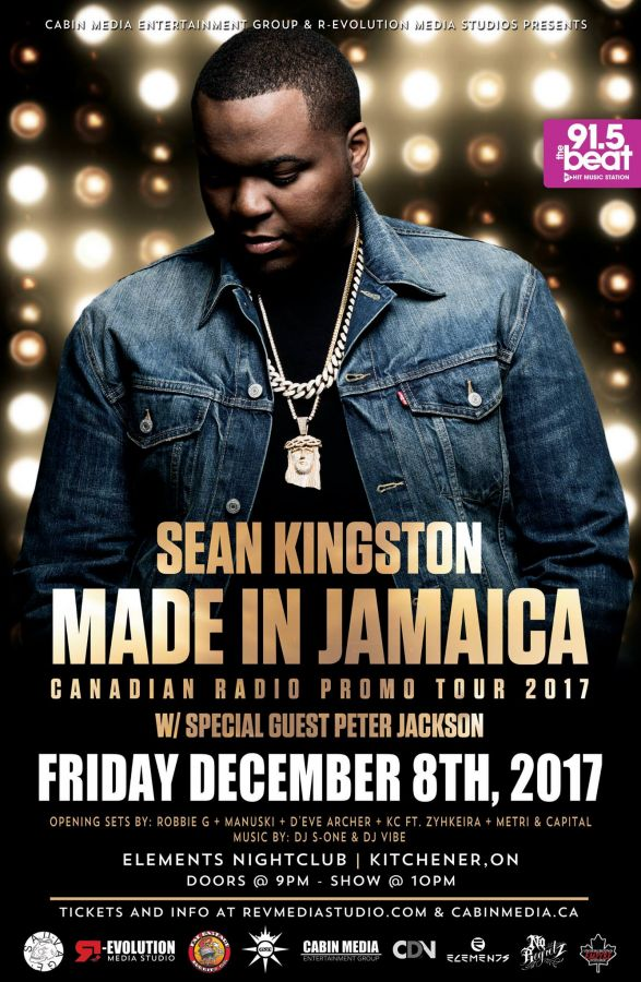 Sean Kingston live in Kitchener Dec 8th at Elements