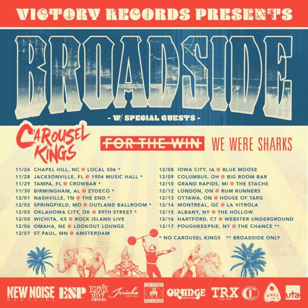Broadside, We Were Sharks, Carousel Kings, For The Win