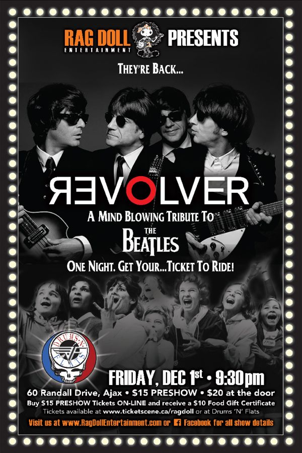 REVOLVER - Canada's Most Authentic Tribute to The Beatles!