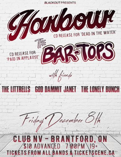 HARBOUR & THE BARTOPS (DOUBLE CD RELEASE SHOW)