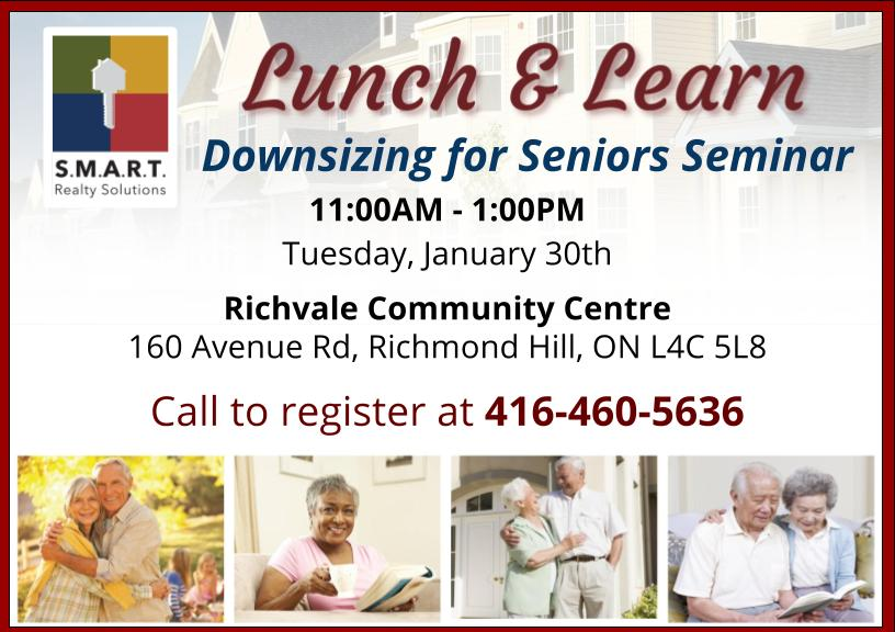 Lunch & Learn: Downsizing for Seniors in Richmond Hill
