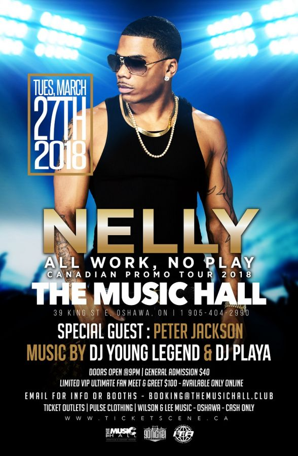 NELLY All Work, No Play Canadian Promo Tour