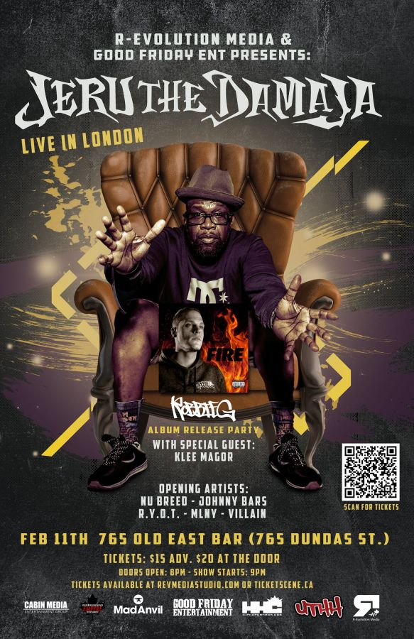 Jeru The Damaja Live in London Feb 11th / Robbie G Album Release Party live at 765 Old East Bar