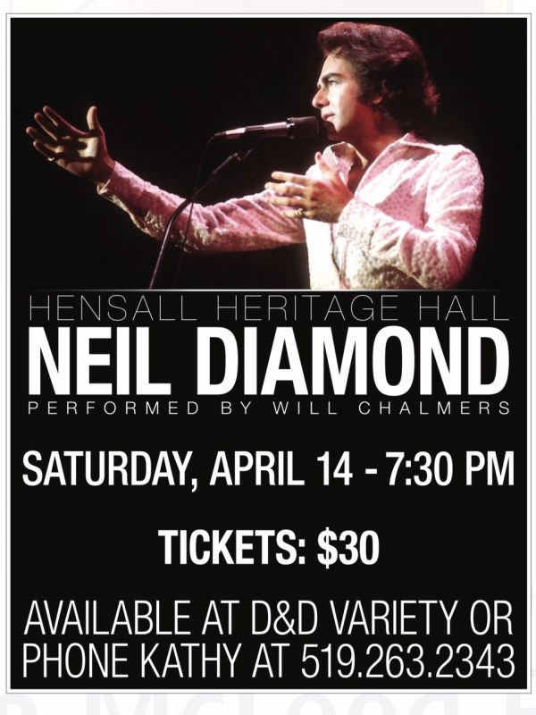 NEIL DIAMOND TRIBUTE PERFOMED BY WILL CALMERS
