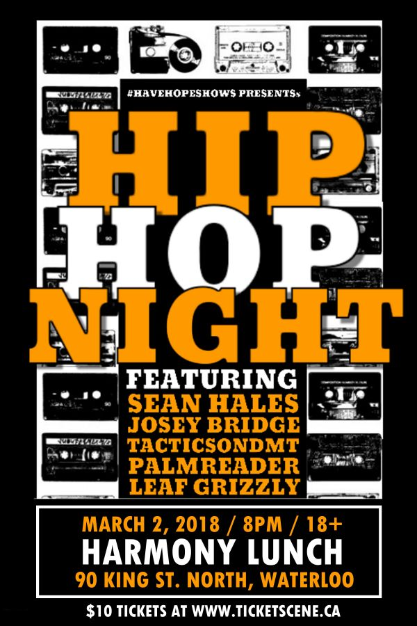HipHopNight ft Sean Hales and More - Waterloo