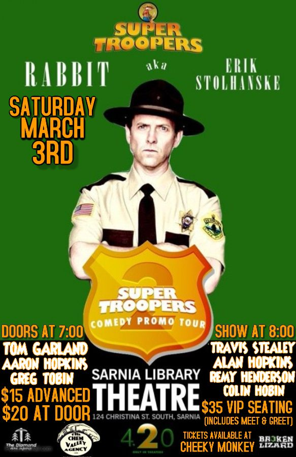 Super Troopers 2 Promo Tour featuring Erik Stolhanske AKA Rabbit