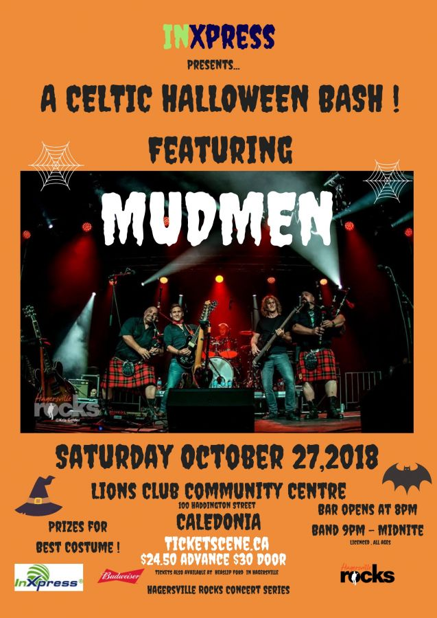 INXPRESS Presents...A Celtic Halloween Bash  with MUDMEN