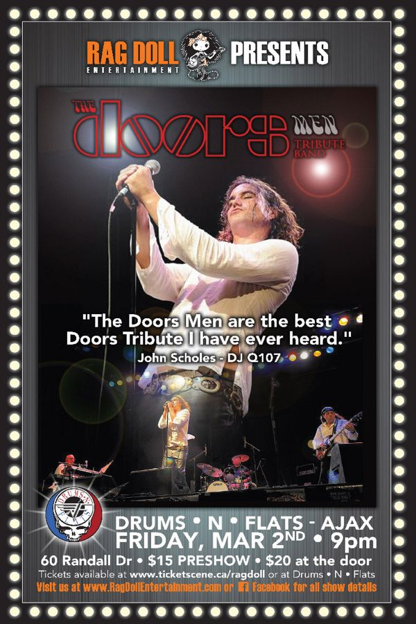 THE DOORS MEN - A Riveting Tribute to The Doors!