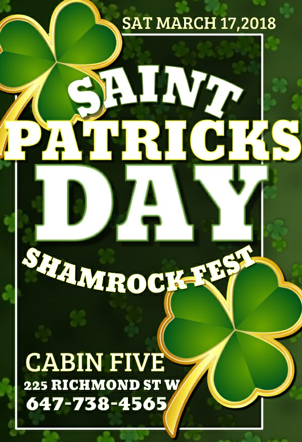 St. Patrick's Day Shamrock Fest 2018|11th Annual St. Paddy's Day in Toronto Party