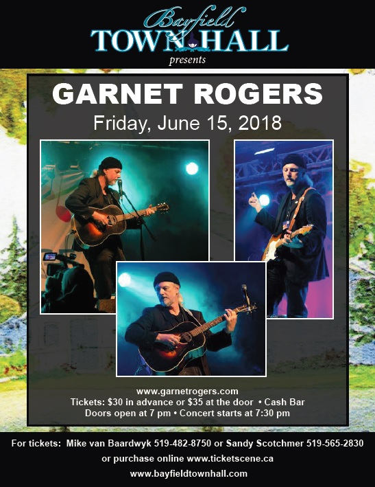 Bayfield Town hall presents Garnet Rogers Live!