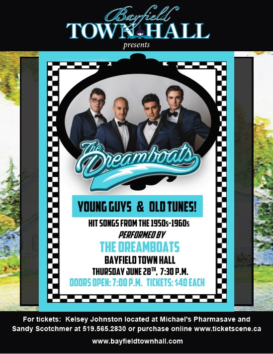Bayfield Town Hall presents The  Dreamboats