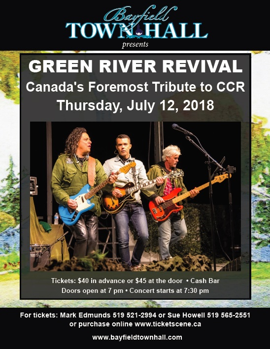 Bayfield Town Hall presents, Green River Revival Live!