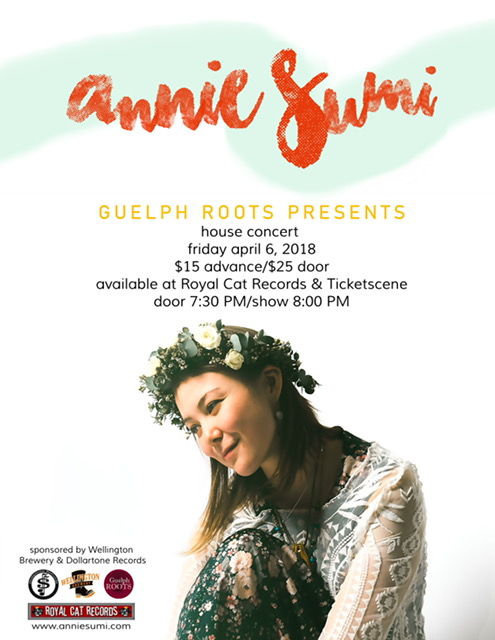 Guelph Roots House Concerts presents, Annie Sumi