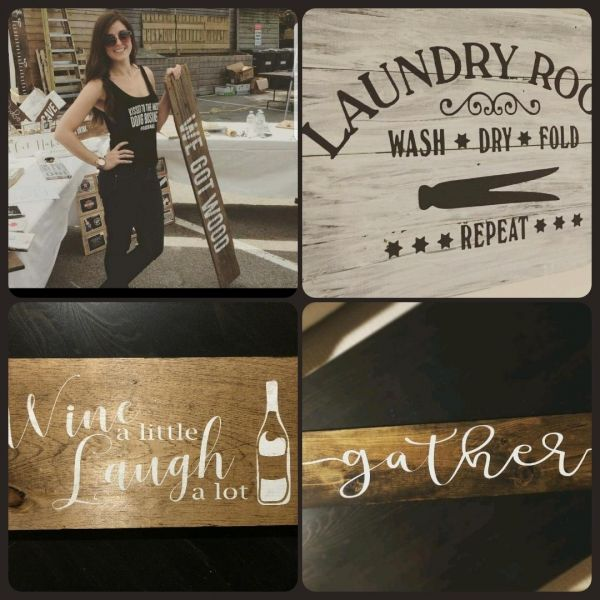 Sip & Sign - Custom made wood signs