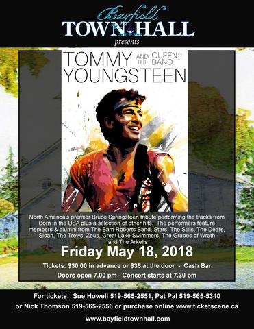 Tommy Youngsteen and the Queen St. Band plays Bruce Springsteen Live at Bayfield Town Hall