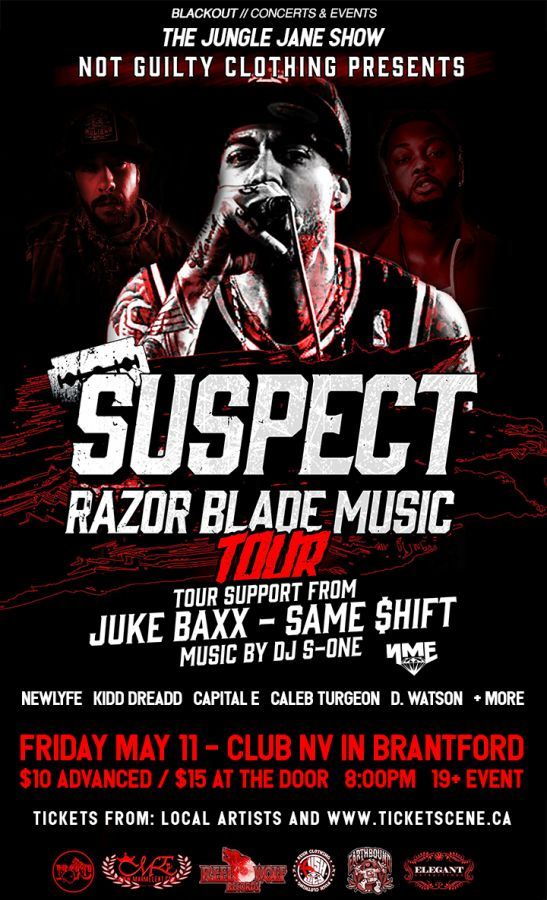 Suspect (Razor Blade Music) and guests - Fri May 11 in Brantford