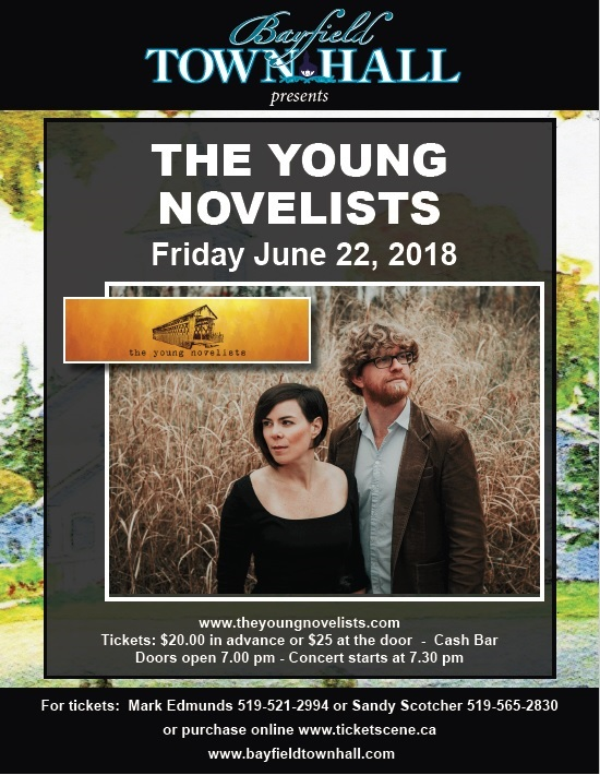Bayfield Town Hall presents The Young Novelists live at the Town Hall