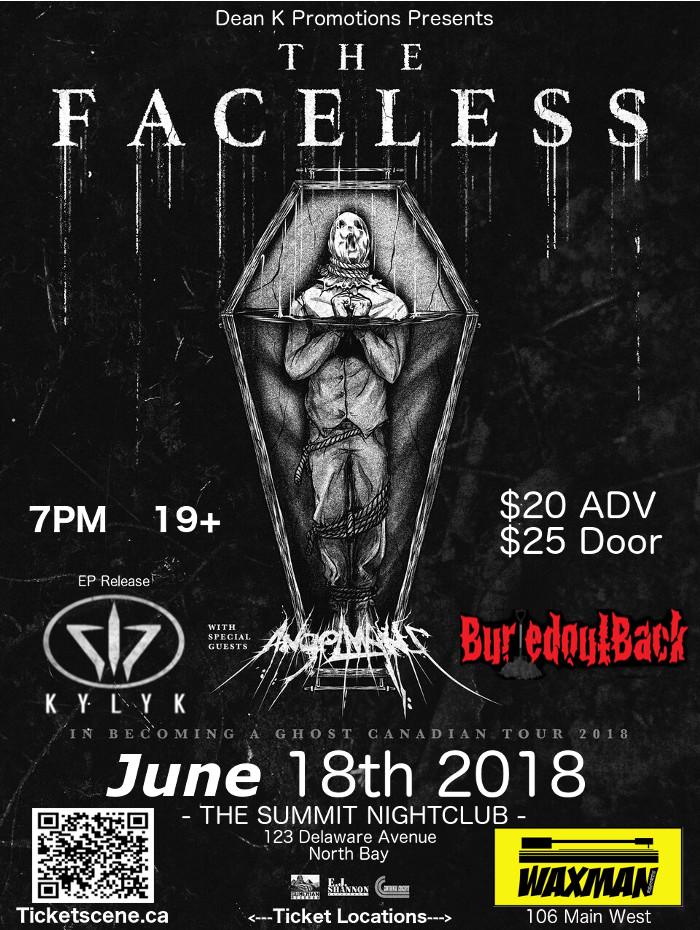 The Faceless , AngelMaker, with Locals
