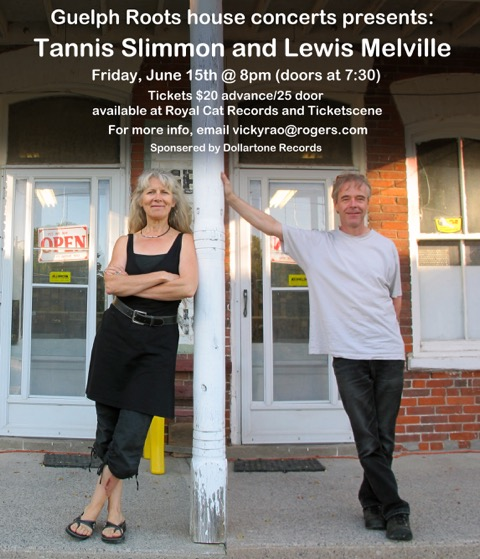 Tannis Slimmon and Lewis Melville, a Guelph Roots presents,