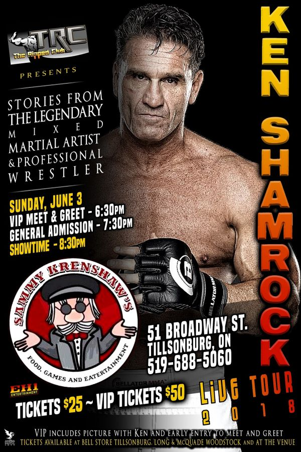 The Ripped Club presents Ken Shamrock : Stories Of The Octagon w/ Meet & Greet