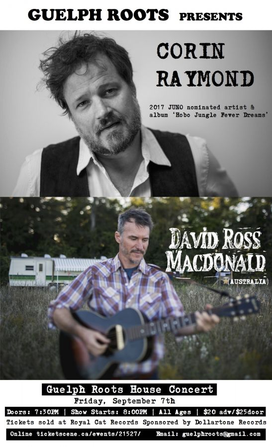 Guelph Roots presents Corin Raymond and David Ross Macdonald