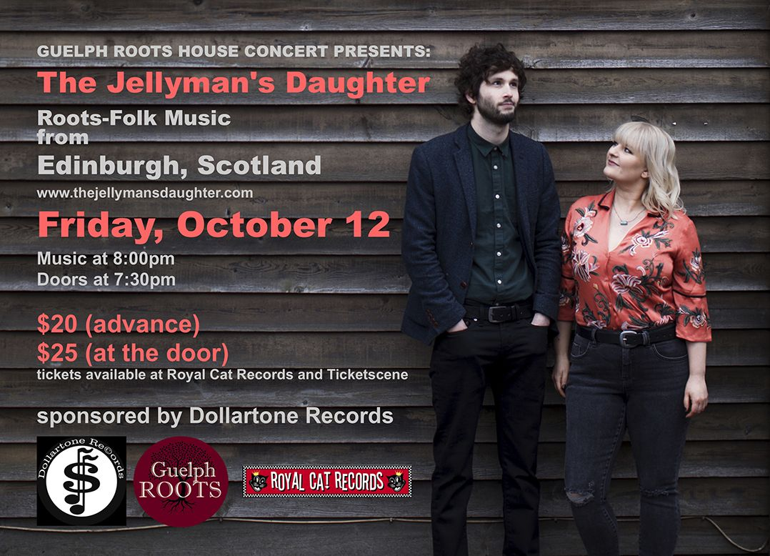 The Jellyman's Daughter, a Guelph Roots house concert presents
