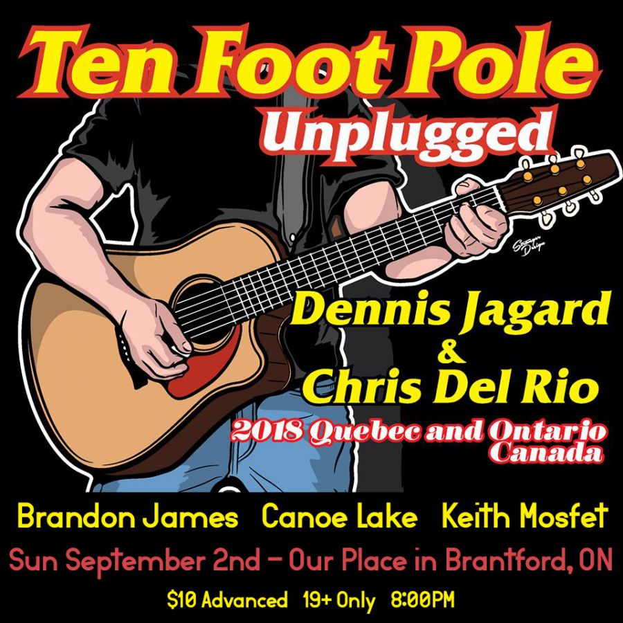 Ten Foot Pole UNPLUGGED - Sun Sept 2 in Brantford