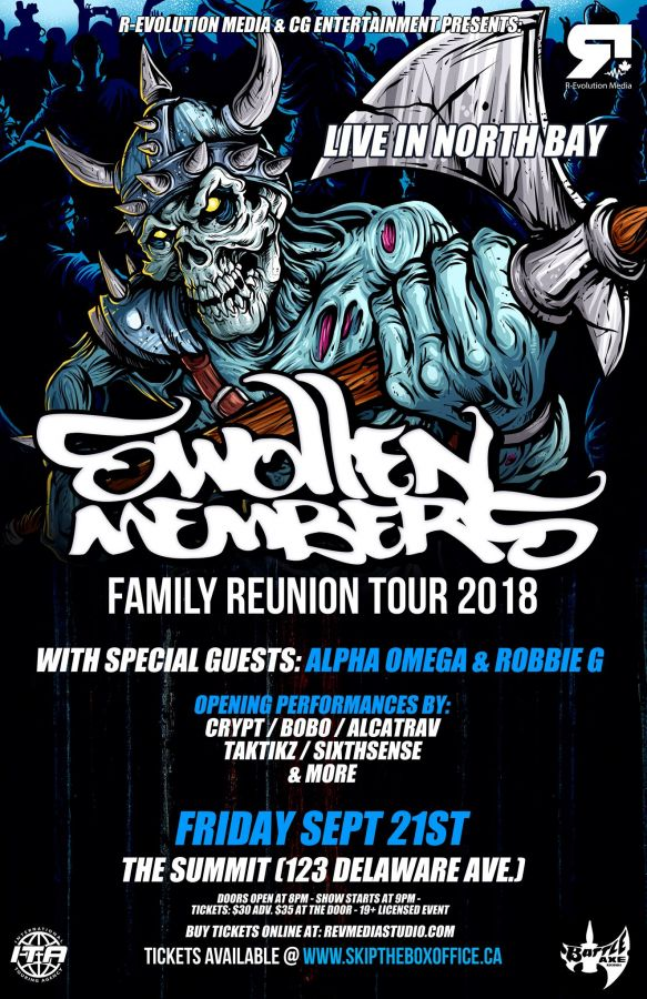 Swollen Members live in North Bay Sept 21 at The Summit