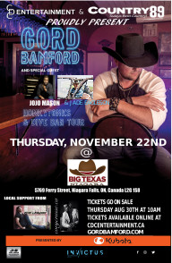 Gord Bamford Honkytonks & Dive Bars Tour