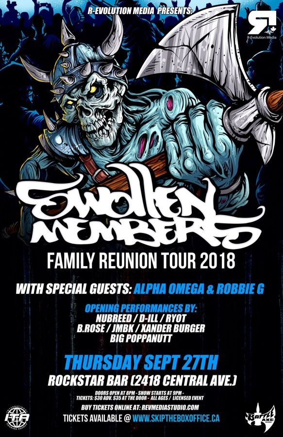Swollen Members live in Windsor Sept 27 at RockStar Music Hall