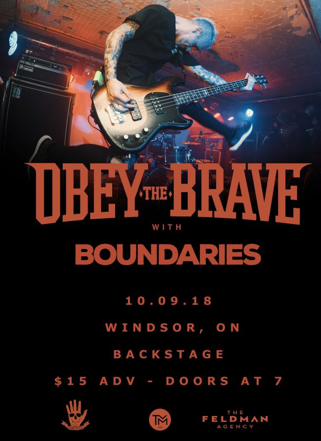 OBEY THE BRAVE - LIVE IN WINDSOR, ONTARIO (THE BACKSTAGE)
