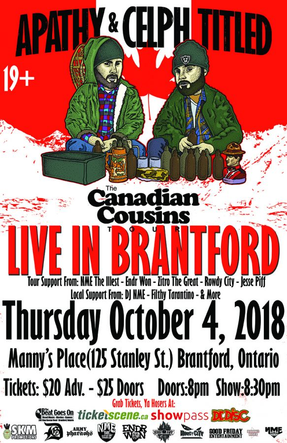 Apathy & Celph Titled - Canadian Cousins Tour Brantford, Ontario