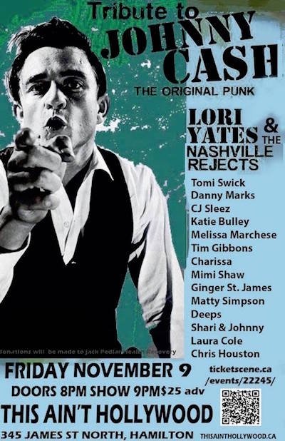 Tribute to JOHNNY CASH - The Original Punk! Hosted by LORI YATES & the Nashville Rejects!