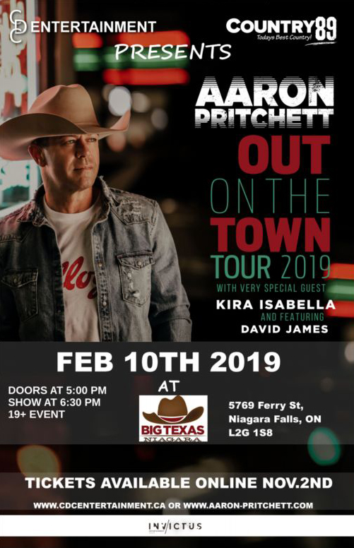AARON PRITCHETT (OUT ON THE TOWN TOUR)