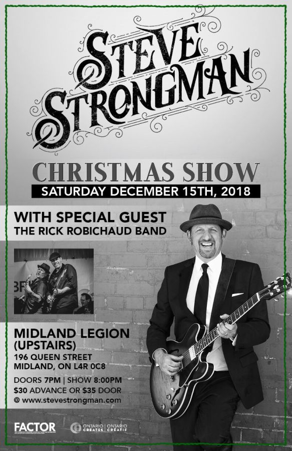 Steve Strongman Christmas Show with Special Guest: The Rick Robichaud Band