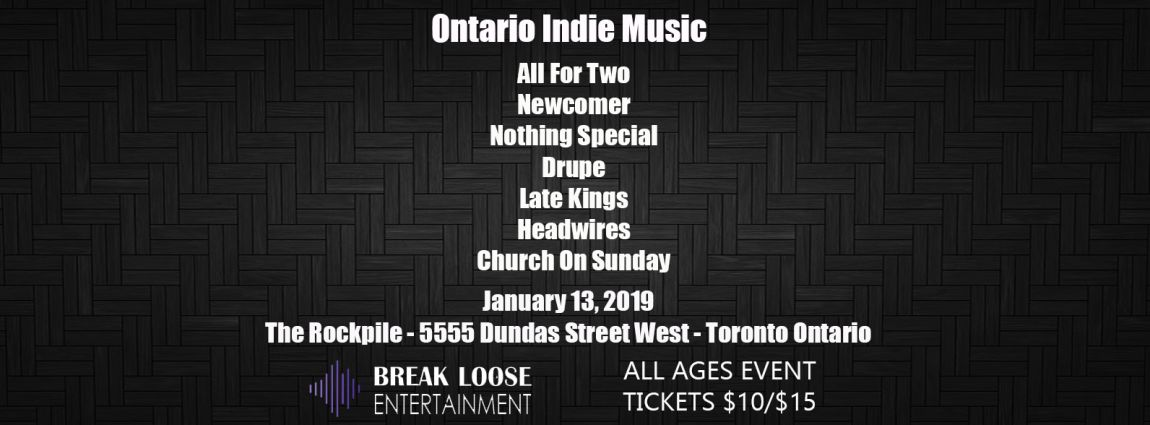 All For Two, Newcomer, Nothing Special, Drupe, Late Kings, Church On Sunday and Headwires