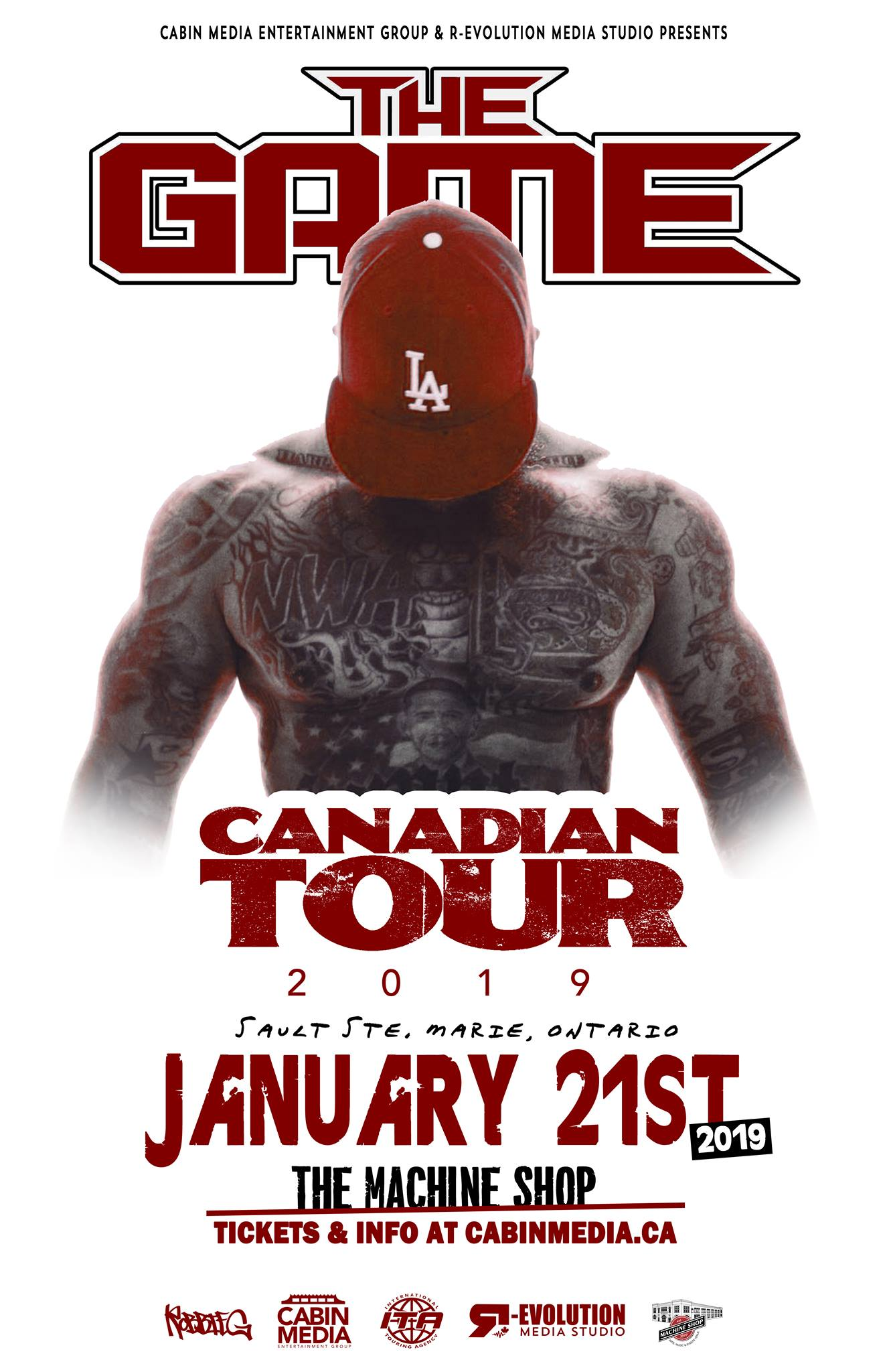 The Game live in Sault Ste Marie January 21st at The Machine Shop