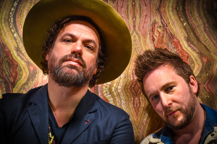 Michael Glabicki of Rusted Root with Dirk Miller and PA Line