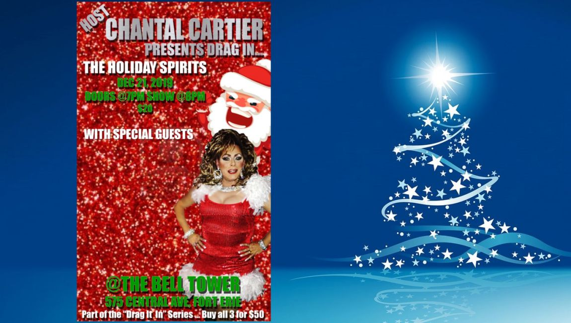 Chantal Cartier presents - Drag in the holiday spirits