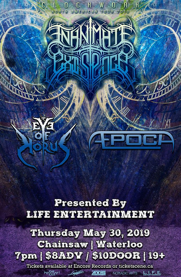 Inanimate Existence, Eye Of Horus, Æpoch at Chainsaw May 30