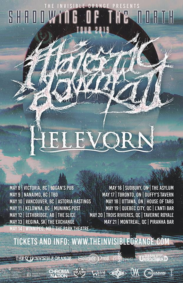 Majestic Downfall, Helevorn, For Mother live in Sudbury at The Asylum