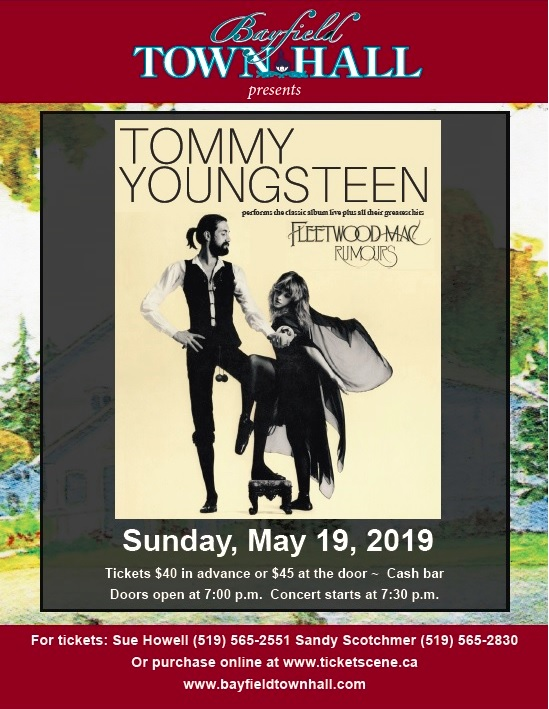 Bayfield Town Hall - Tommy Youngsteen performs Fleetwood Mac's classic album,