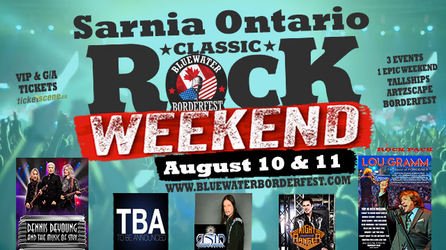 Bluewater BorderFest Sarnia Music Festival - Saturday Aug 10th & Sunday Aug 11th, Classic Rock Weekend Pass