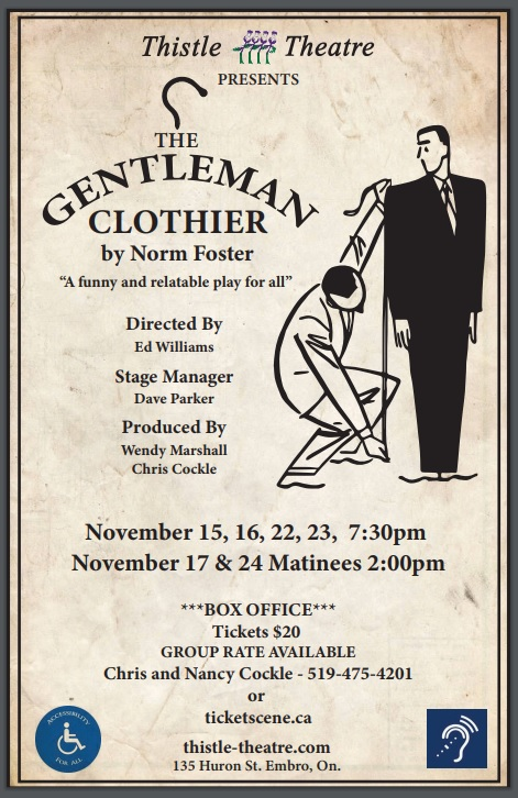 The Gentleman Clothier by Norm Foster