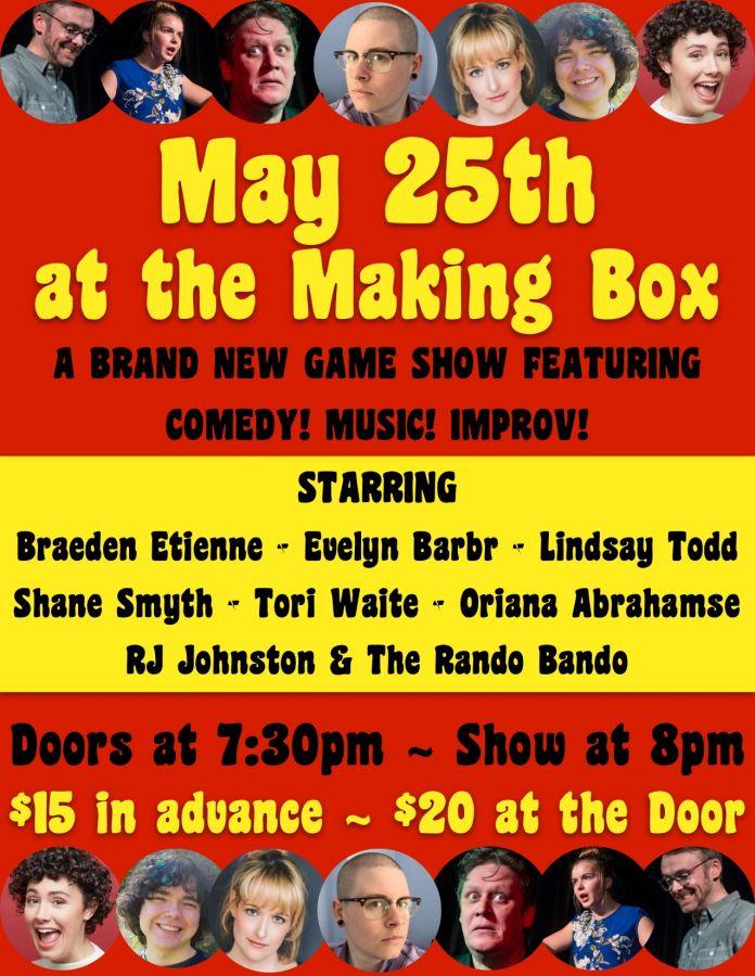 Brand New Improv Comedy Game Show with Music at The Making Box