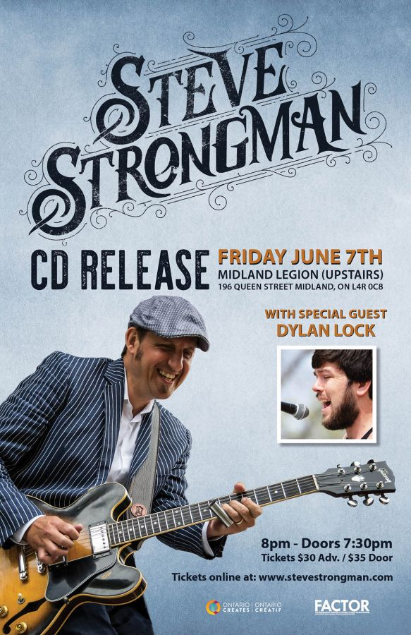 Steve Strongman CD Release Show with Special Guest Dylan Lock