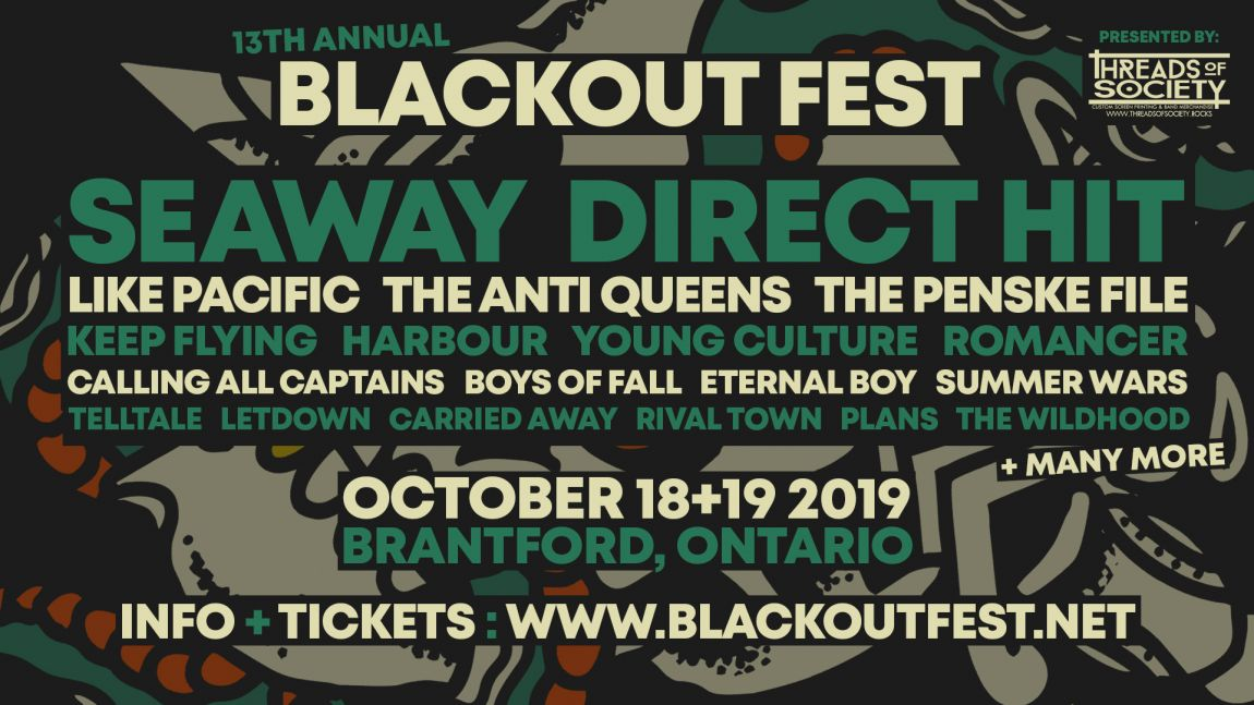 13th Annual Blackout Fest · Seaway + Direct Hit · Oct 18+19 2019