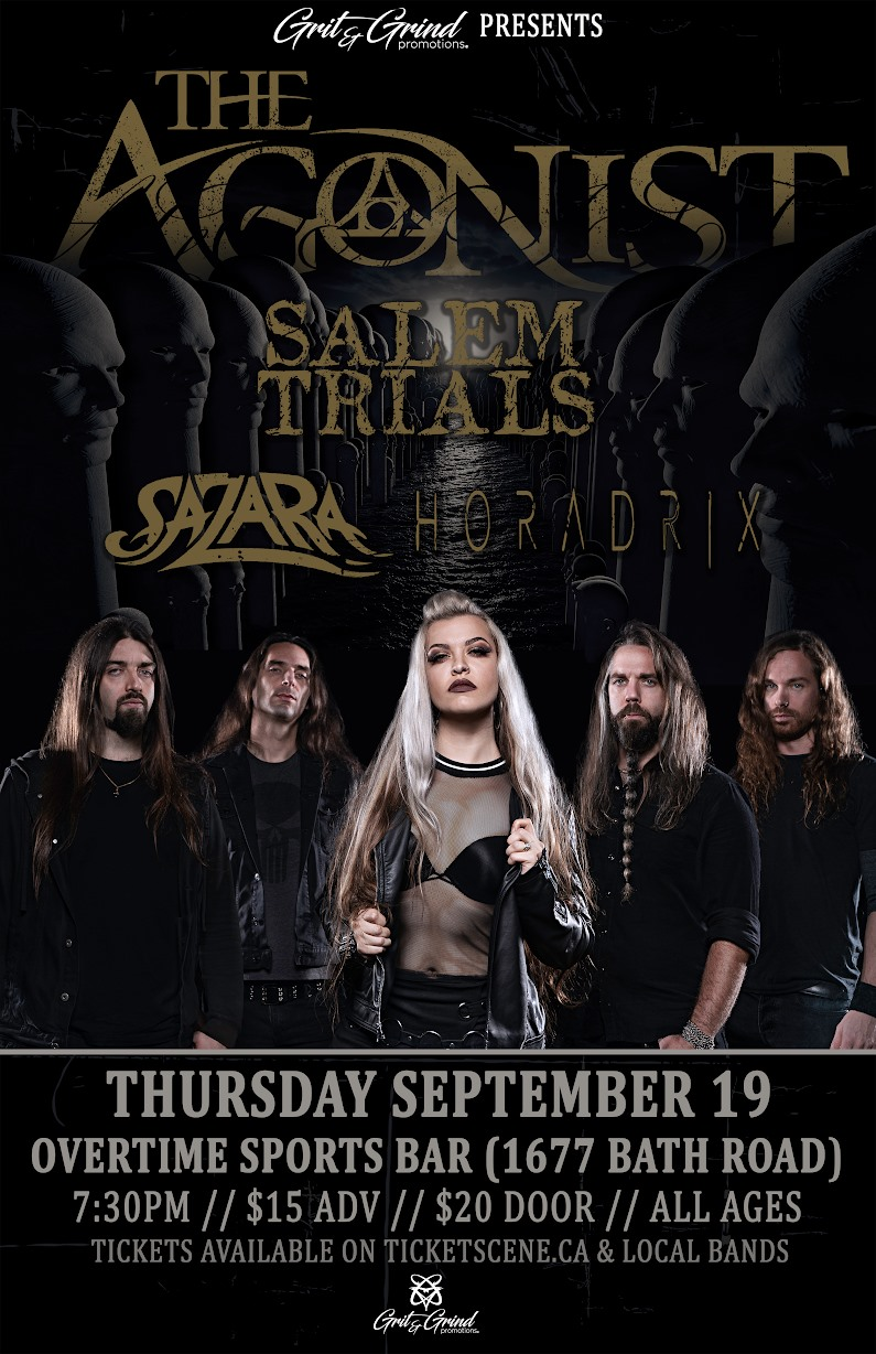 The Agonist & Salem Trials at Overtime Sports Bar